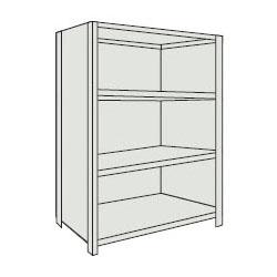 トラスコ 軽量棚(背板・側板付・4段)1515×465×1204mm ネオグレー 45X-24-NG