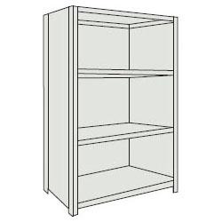 トラスコ 軽量棚(背板・側板付・4段)1515×615×1504mm ネオグレー 55W-24-NG