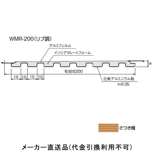 ウッドマルチスパン WMR-200(リブ調) 規格3000mm さつき檜 (1箱12枚価格) フクビ化学 WMR23SH