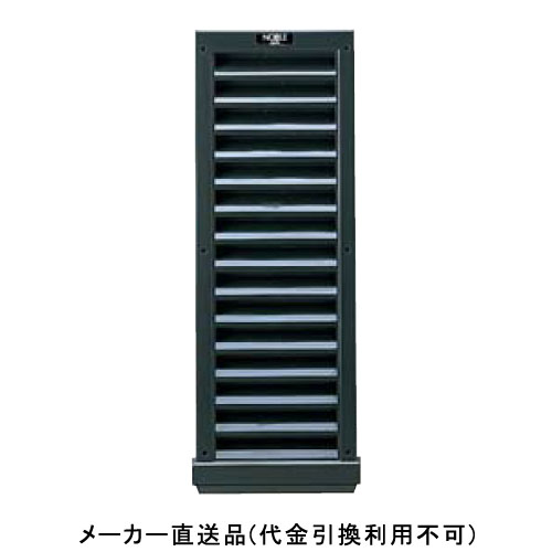大型ヤギリ ノーブル4型(防虫ネット付) 800×280×57mm ブラック 1箱2個価格 フクビ化学 BY04B
