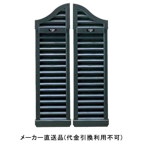 フクビ化学 大型ヤギリ ノーブル56型(防虫ネット付) 1000×280×61mm ブラック 1箱1セット価格 BY56B