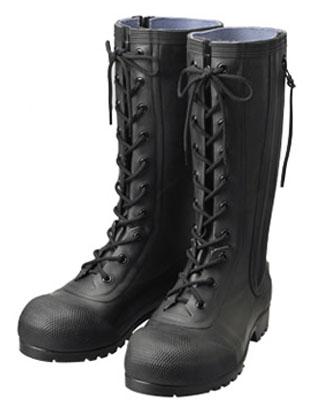安全編上長靴 HSS-001 黒 24.5cm ※メーカー直送品 シバタ工業 AB090