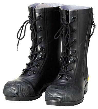 消防団員用ゴム長靴 SG201 黒 29.0cm ※メーカー直送品 シバタ工業 AF020