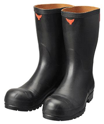 安全耐油長靴 黒 24.0cm ※メーカー直送品 シバタ工業 AO010