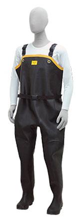 胴付水中長靴 ブラック 24.0cm ※メーカー直送品 シバタ工業 ND010