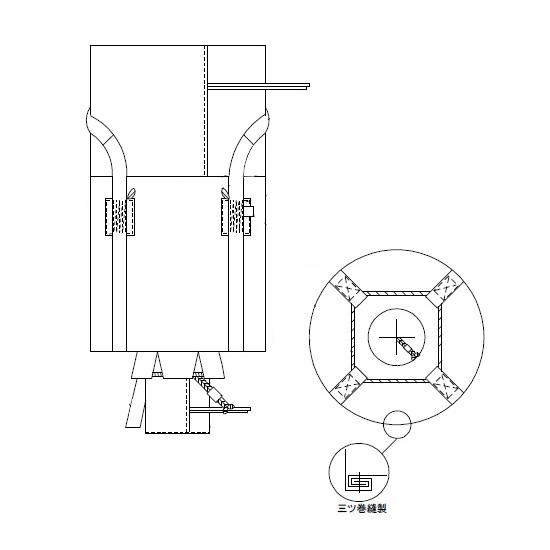 小泉製麻 フレコンバッグ(1トン袋) 排出口付 10枚価格 新JIS規格品 バージン原料100% KTOY-2S