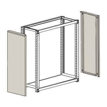 トラスコ 中量棚M2型用側板(はめこみ式)305×1805mm用 ネオグレー(1組価格)【代引不可・メーカー直送品】 GM2-63-NG