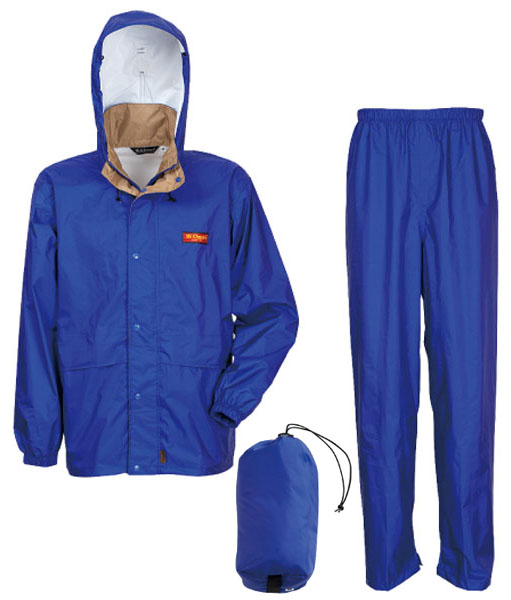 カジメイク エントラント使用レインスーツ ブルー 4Lサイズ ※取寄品 7200-45-4L