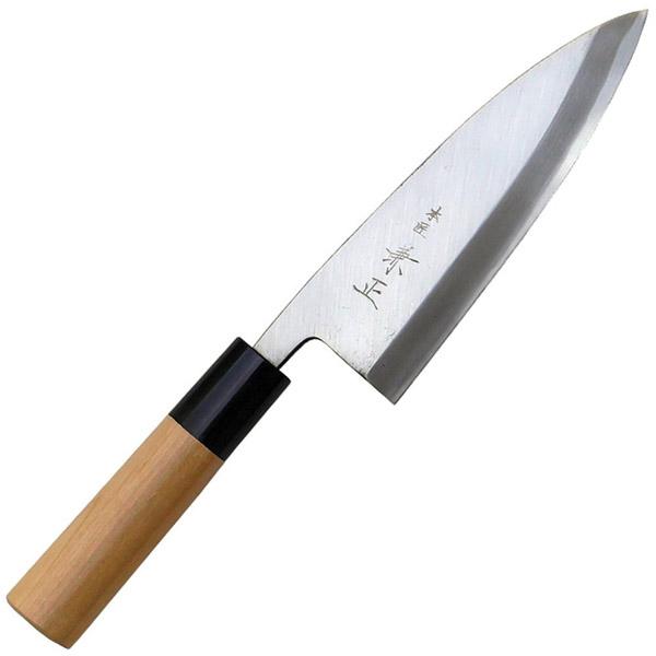 関兼常 本匠 兼正 Gシリーズ 霞研 水牛口付 朴柄 和包丁 相出刃 全長285×刃渡150mm G-30