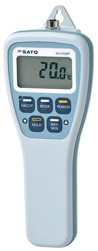 佐藤計量器 防水型デジタル温度計 SK-270WP用指示計のみ 8078-01
