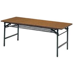トラスコ 折畳会議用テーブル(下棚付) 1200×450×700mm【代引不可・メーカー直送品】 1245