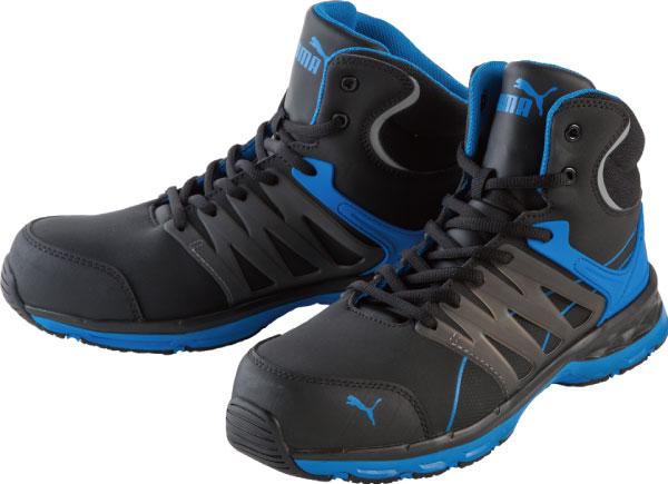 【送料無料】安全靴 ヴェロシティ 25.0cm ブルー ミッド PUMA(プーマ) 63.341.0 ( スニーカー 作業靴 作業用 ワーキングシューズ 安全シューズ セーフティーシューズ 先芯入りスニーカー ローカット おしゃれ メンズ ウォーキングシューズ )