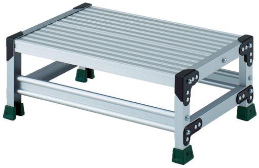 トラスコ アルミ合金製作業台 1段 高さ0.25m 天板600×400 ※取寄品 TSF-1625