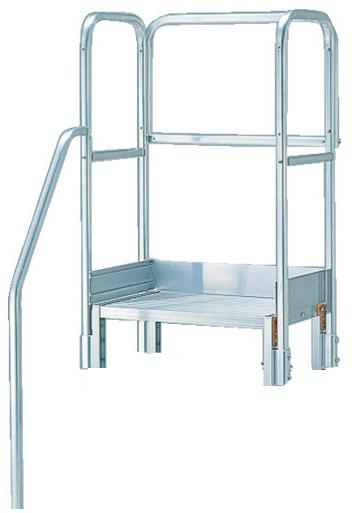 トラスコ 階段片手すり天場三方 高さ900mm TSF-51025用 ※取寄品 TSF-TE11-250