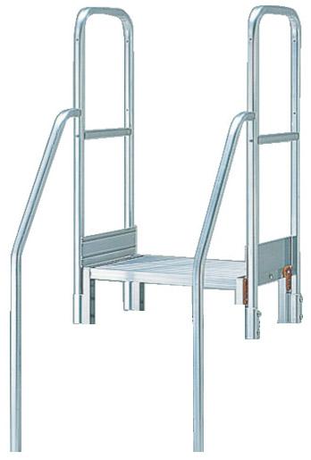 トラスコ 階段両手すり 高さ1100mm TSF-3675/4610用 ※取寄品 TSF-TE4-11H-250