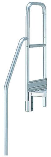 トラスコ 階段片手すり 高さ900mm TSF-51025用 ※取寄品 TSF-TE8-250