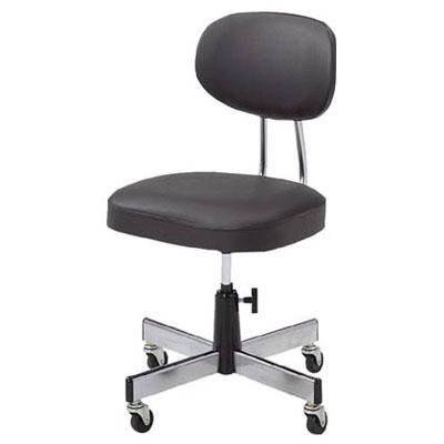 トラスコ オフィスチェア 標準事務椅子 ブラック L-2095