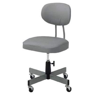 トラスコ オフィスチェア 標準事務椅子 グレー T-80