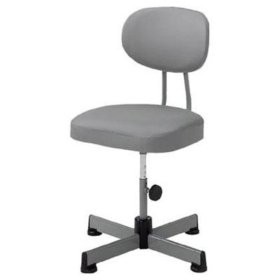トラスコ オフィスチェア(固定脚)事務椅子 グレー L-90Z