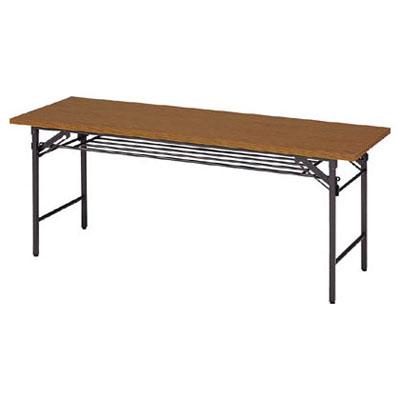 トラスコ 折畳会議用テーブル(下棚付) 1800×600×700mm【代引不可・メーカー直送品】 1860