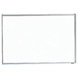 トラスコ 壁掛スチール製ホワイトボード(白暗線)900×1200mm シルバー GH-112A