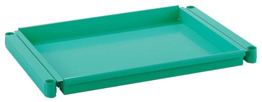 トラスコ フェニックスワゴン用スライド棚板 600×400 ヤンググリーン ※取寄品 PEW-M64T-YG