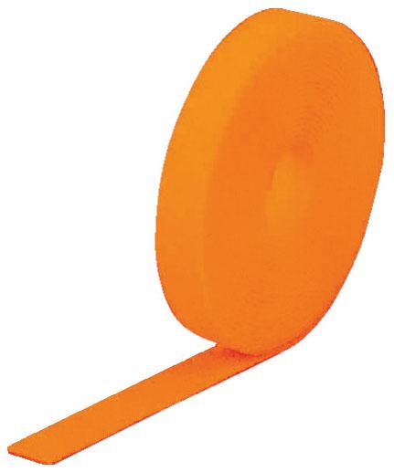 トラスコ マジック結束テープ 両面 蛍光オレンジ 20mm×25m ※取寄品 MKT-20250-LOR