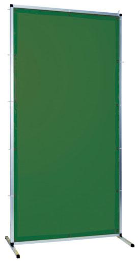 トラスコ 溶接用遮光フェンス アルミ製 W1000×H1500 ダークグリーン ※取寄品 TYAF-1015-DG