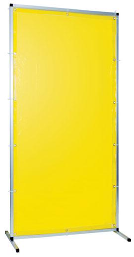 トラスコ 溶接用遮光フェンス アルミ製 W1000×H1500 イエロー ※取寄品 TYAF-1015-Y