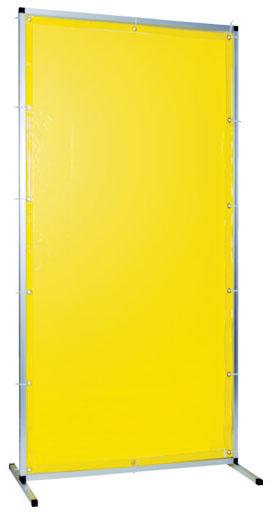 トラスコ 溶接用遮光フェンス アルミ製 W1000×H2000 イエロー ※取寄品 TYAF-1020-Y