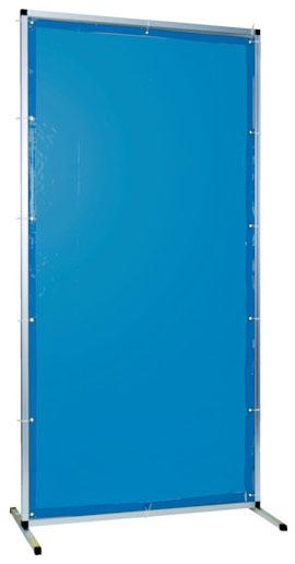 トラスコ 溶接用遮光フェンス アルミ製 W1000×H2000 ブルー ※取寄品 TYAF-1020-B
