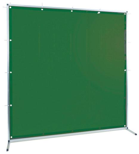 トラスコ 溶接用遮光フェンス アルミ製 W1500×H1500 ダークグリーン ※取寄品 TYAF-1515-DG