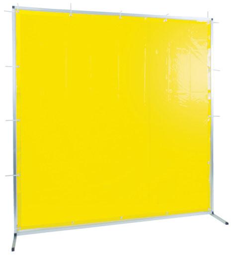 トラスコ 溶接用遮光フェンス アルミ製 W1500×H1500 イエロー ※取寄品 TYAF-1515-Y
