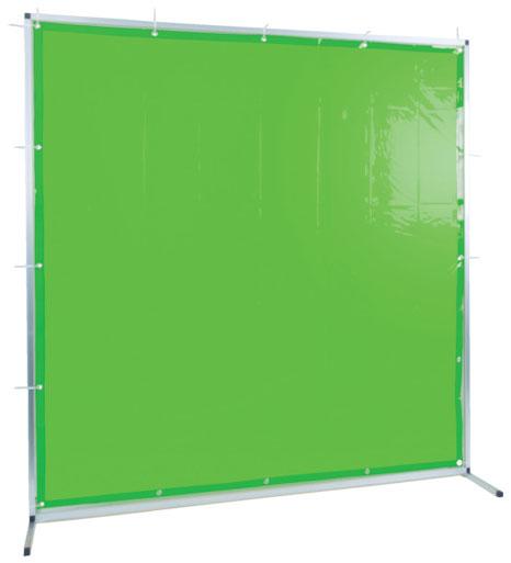 トラスコ 溶接用遮光フェンス アルミ製 W2000×H1500 グリーン ※取寄品 TYAF-2015-GN