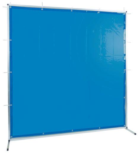 トラスコ 溶接用遮光フェンス アルミ製 W2000×H1500 ブルー ※取寄品 TYAF-2015-B