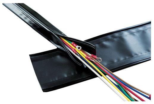 トラスコ 配線保護結束チューブ ジッパータイプ 呼び径100×長10m ※取寄品 GPJ-100-10