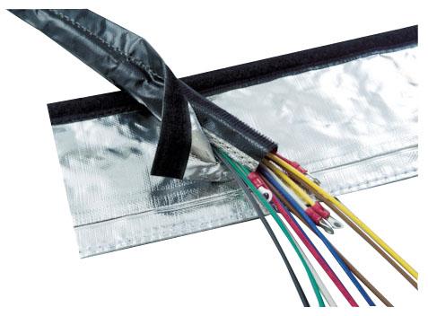 トラスコ 電磁波ノイズ対策結束チューブ マジックタイプ 呼び径70mm×長5m ※取寄品 MTF-70-5