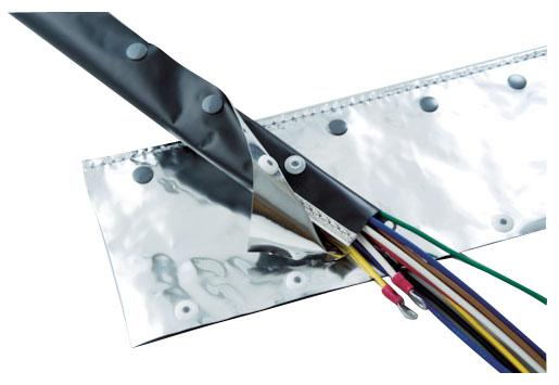 トラスコ 電磁波ノイズ対策結束チューブ ホックタイプ 呼び径100mm×長5m ※取寄品 OTF-100-5