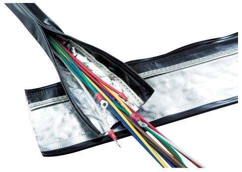 トラスコ 電磁波ノイズ対策結束チューブ ジッパータイプ 呼び径70mm×長10m ※取寄品 SHNF-70-10