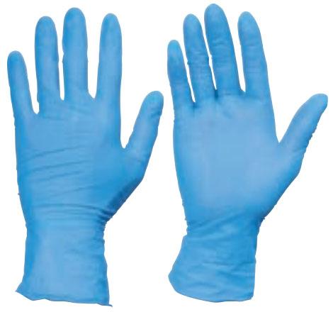 トラスコ 使い捨てニトリル手袋 TGワーク 厚0.10mm 粉無 青 L 10箱入 ※取寄品 TGNN10BL-10C