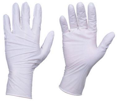 トラスコ 使い捨てニトリル手袋 TGスタンダード 厚0.08mm 粉付 白 L 10箱入 ※取寄品 TGPN08WL-10C