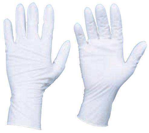 トラスコ 使い捨てニトリル手袋 TGワーク 厚0.10mm 粉付 白 L 10箱入 ※取寄品 TGPN10WL-10C