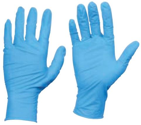 トラスコ 使い捨てニトリル手袋 TGワーク 厚0.10mm 粉付 青 L 10箱入 ※取寄品 TGPN10BL-10C