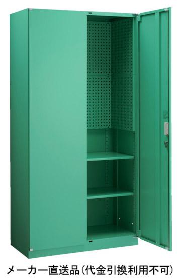 トラスコ MU型保管庫 パンチングパネル付 900×450×H1830 MUHP-18B