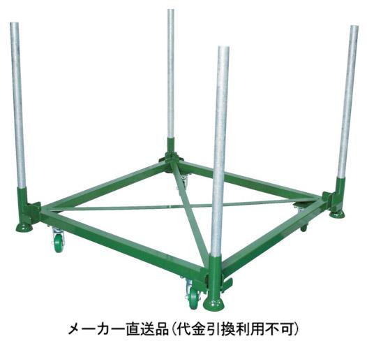トラスコ 段積みパレット台車 1100×1100 キャスター付 メーカー直送 代引不可 DPLC05-1111