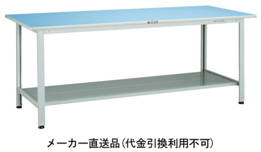トラスコ BOR型軽量作業台 1800×900 下棚2枚付 ホワイト BOR-1890LT2