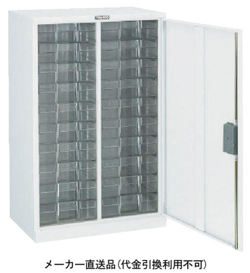 トラスコ 扉付カタログケース 片開 中深型2列15段 ホワイト 560×395×H880mm A2C15D-W