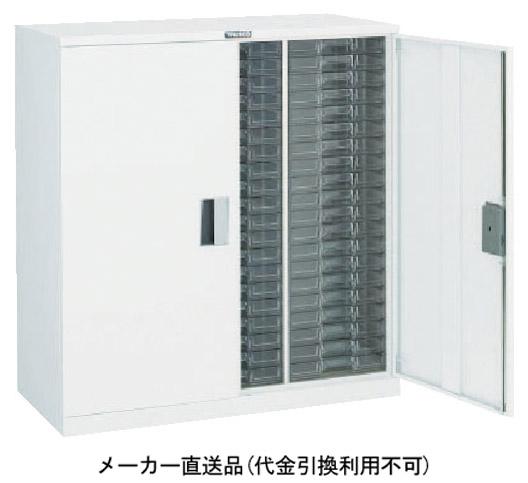トラスコ 扉付カタログケース 両開 中深型3列15段 ホワイト 825×395×H880mm A3C15D-W