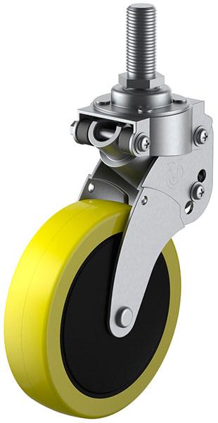 SKY-T型 緩衝器付・自在車 M16×40 100mm ※受注生産品 ユーエイキャスター SKY-T100SUE-2M16x40
