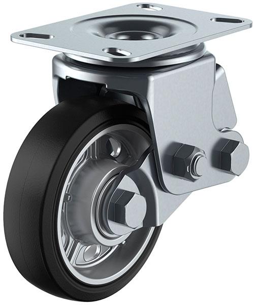 ユーエイキャスター SKY-2S型 自在車 緩衝器付 150mm ゴム ※受注生産品 SKY-2S150AW-A-2